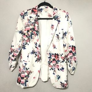 Pixley Floral jacket Blazer 3/4 Sleeve White Women